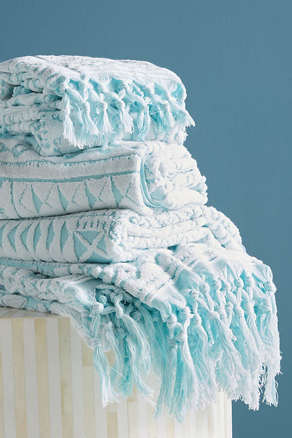 Marcela Towel Collection - Turquoise, Size Hand Towel