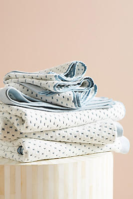 Slide View: 1: Dotted Jacquard Towel Collection