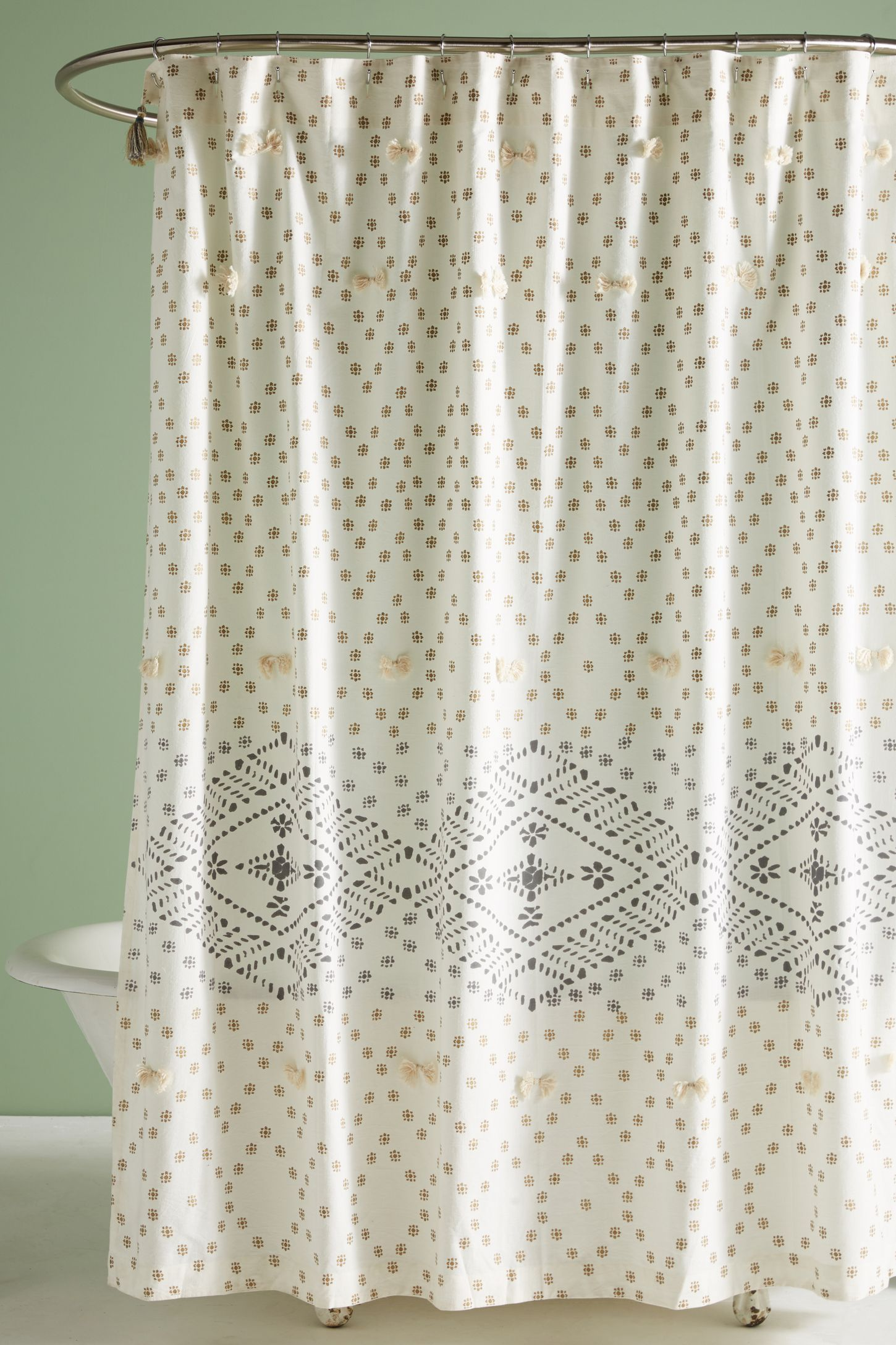 liron tufted shower curtain - Bathroom Designs With Shower Curtains