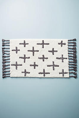 Slide View: 1: Moroccan Cross Bath Mat
