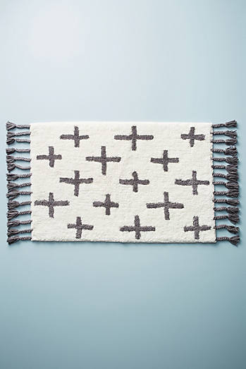Moroccan Cross Bath Mat