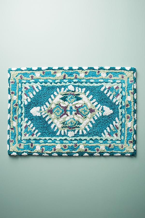 Meze Bath Mat, Teal - Turquoise