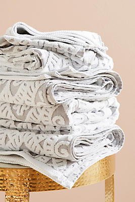Slide View: 1: Damask Towel Collection