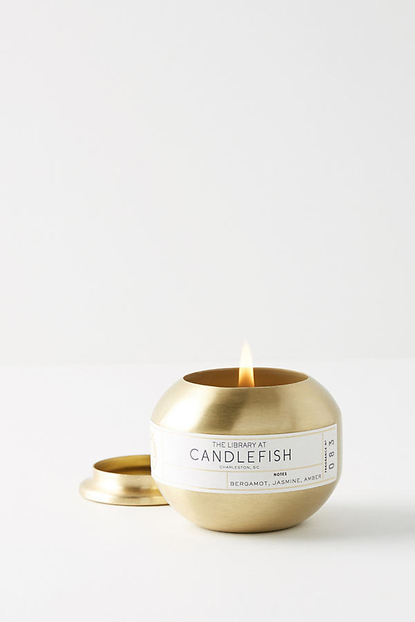 Candlefish Candle Tin - Gold