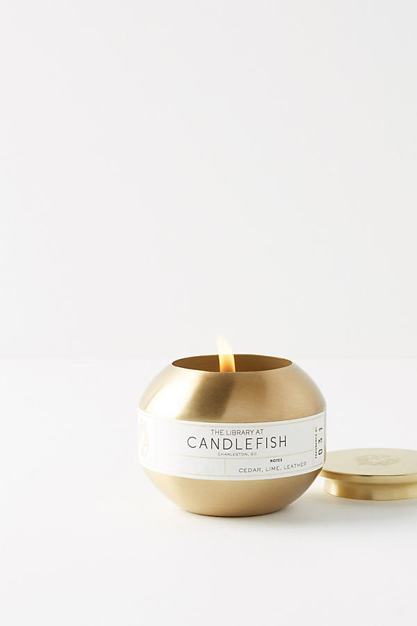 Candlefish Candle Tin - Dark Yellow