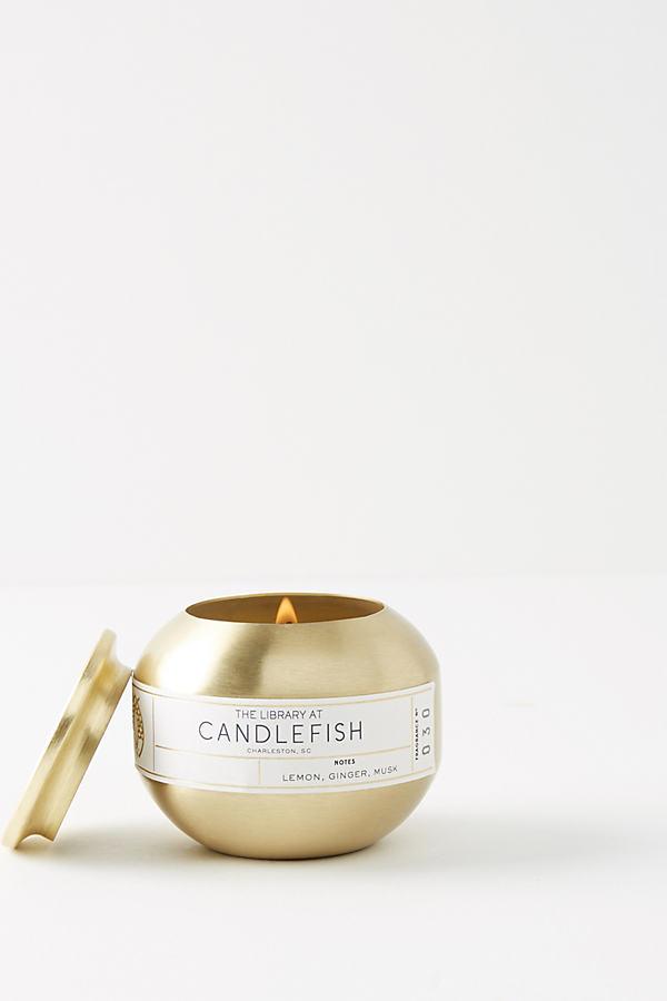 Candlefish Candle Tin - Yellow