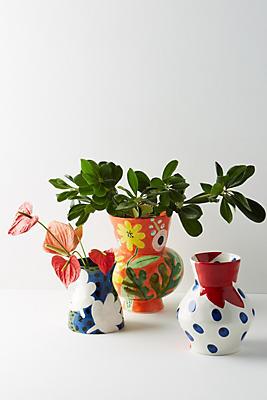 Slide View: 2: Bold Blooms Vase