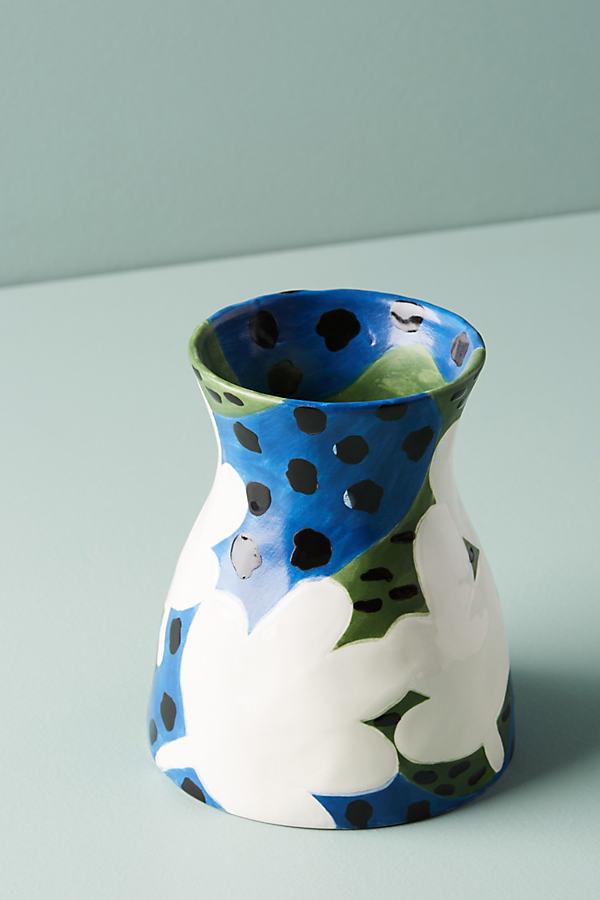 Bold Blooms Vase - Blue