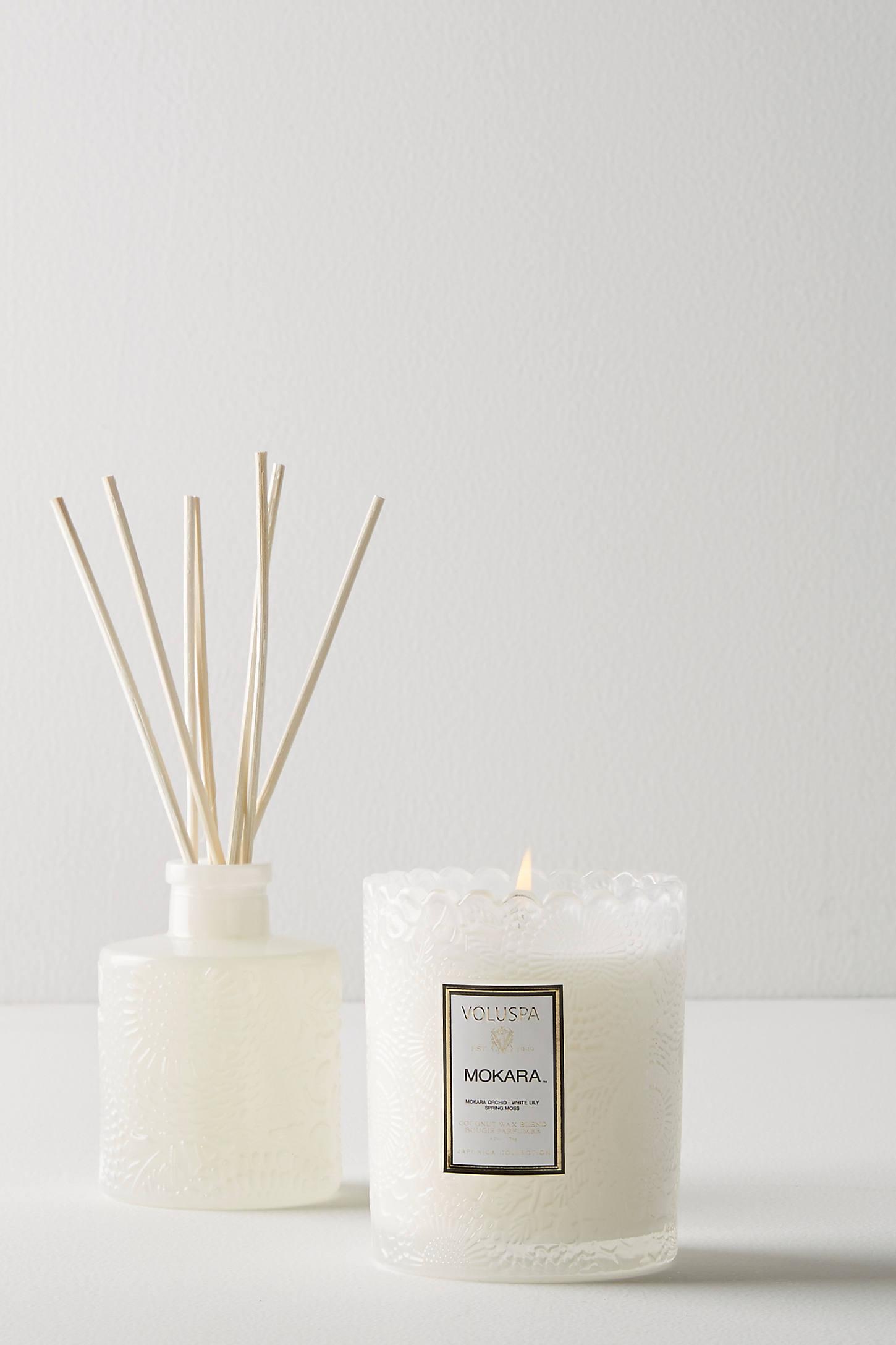 Voluspa Scalloped Edge Candle & Diffuser Gift Set