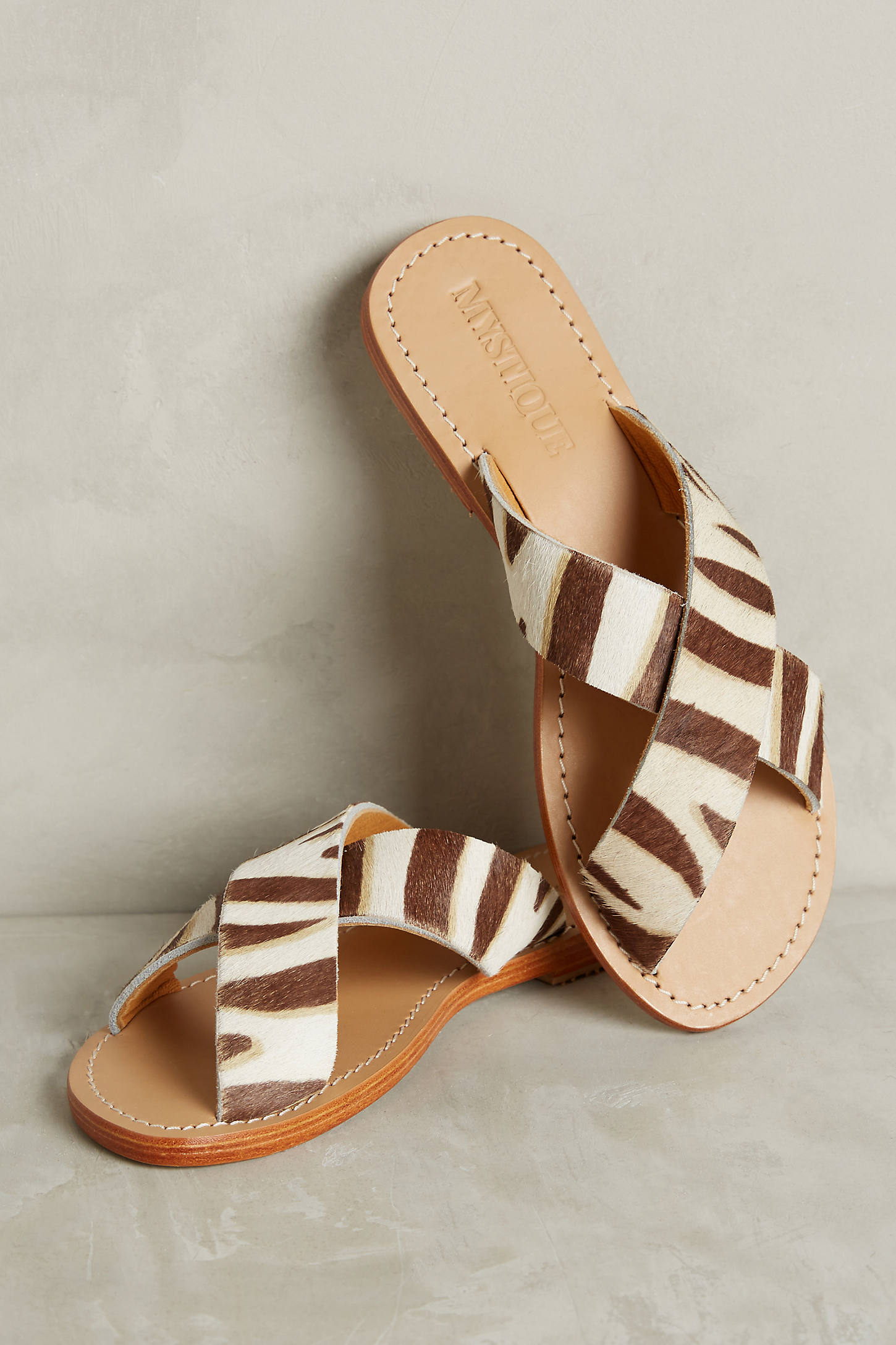 Mystique Zebra Slide Sandals