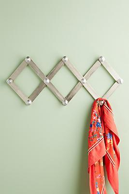 Slide View: 1: Metallic Accordian Hook Rack