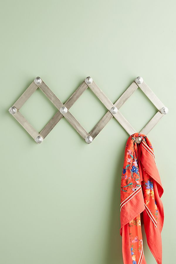 Slide View: 1: Metallic Accordian Hook Rack