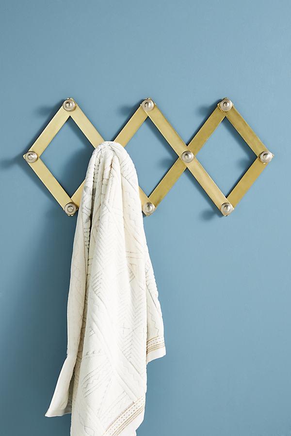 Metallic Accordian Hook Rack - Bronze