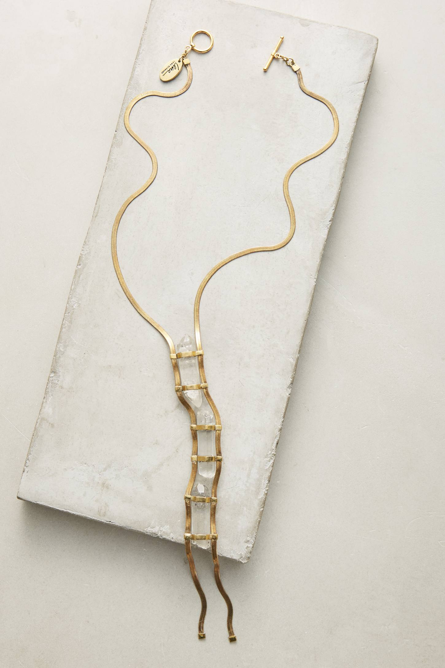 Slide View: 1: Roxana Ladder Necklace