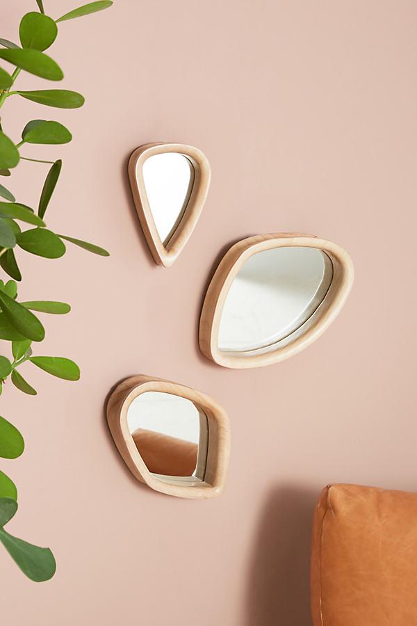 Bentwood Mirror - Neutral Motif, Size Xs