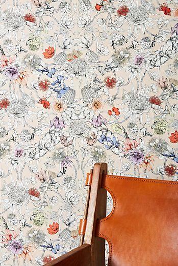 Anthropologie Sketched Songbird Wallpaper