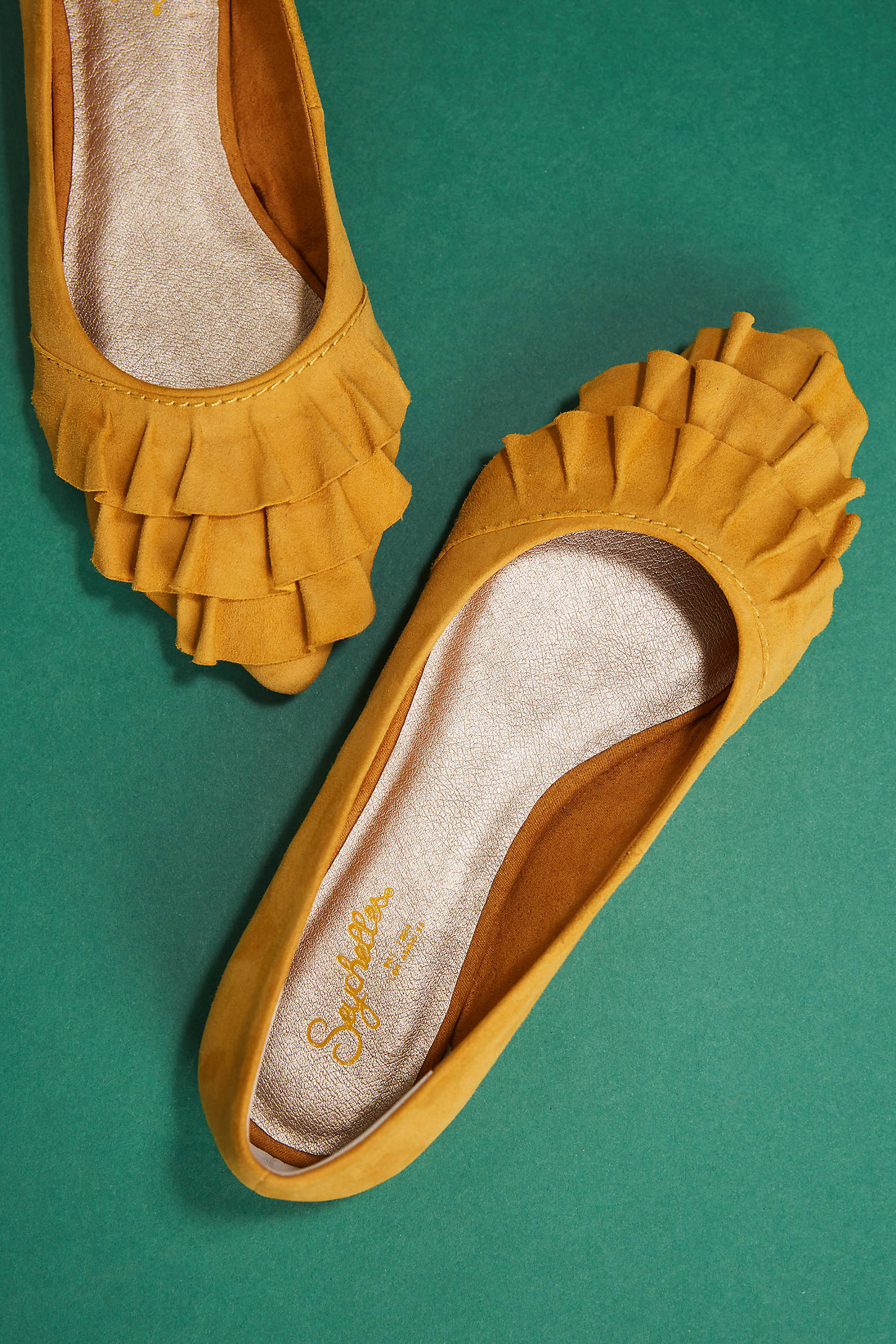 Seychelles Downstage Ruffled Flats