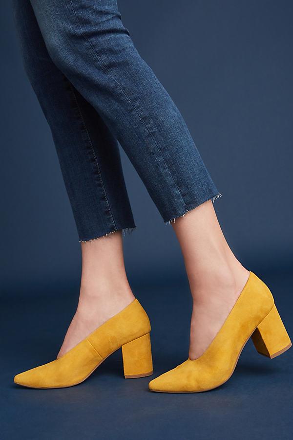 Seychelles Rehearse Heels - Yellow, Size Uk 7.5