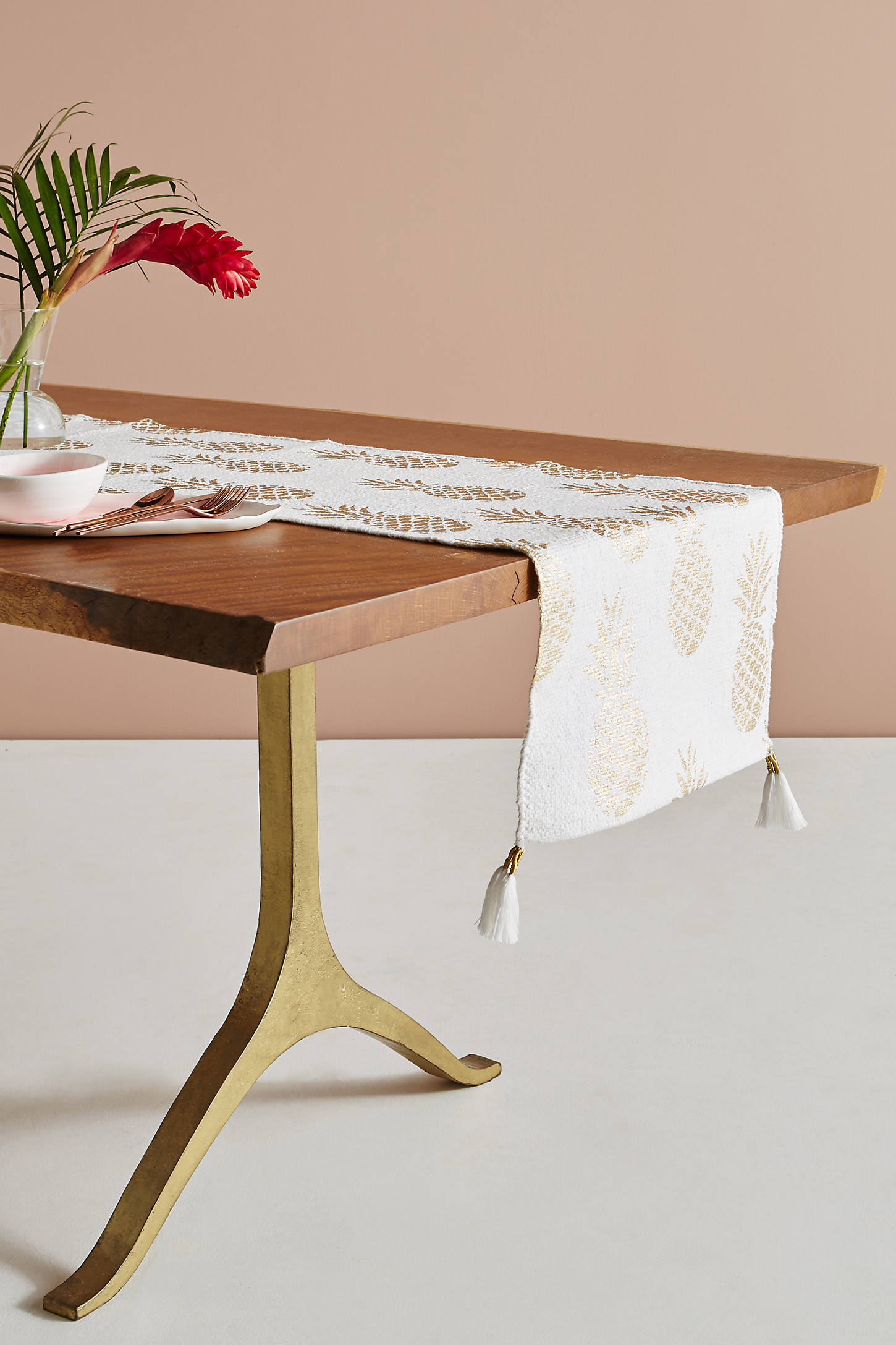 Golden Pineapple Table Runner