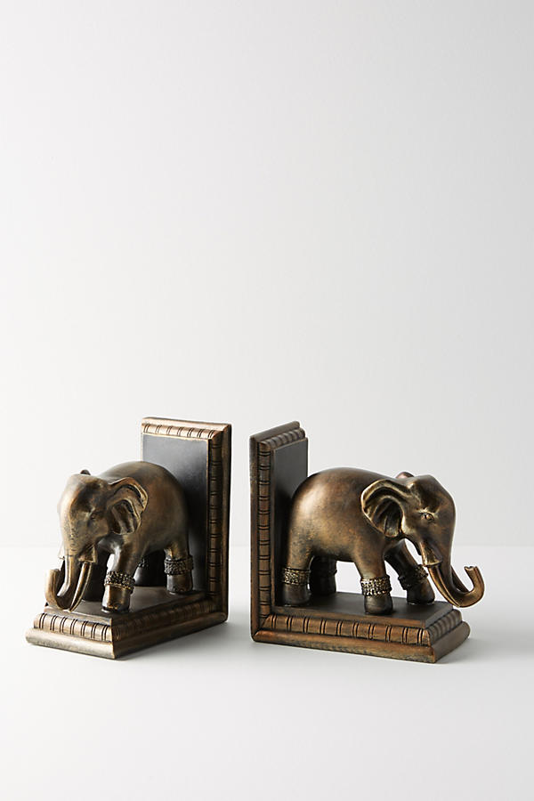 Slide View: 2: Elephant Bookends