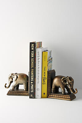 Slide View: 1: Elephant Bookends