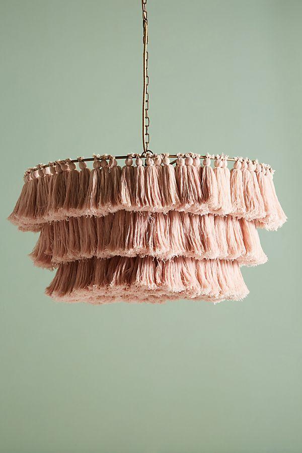 Fela tasseled chandelier anthropologie slide view 1 fela tasseled chandelier aloadofball Images