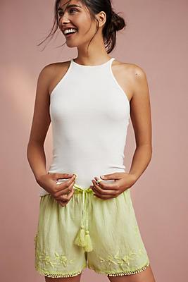 Slide View: 1: Dana Textured Shorts