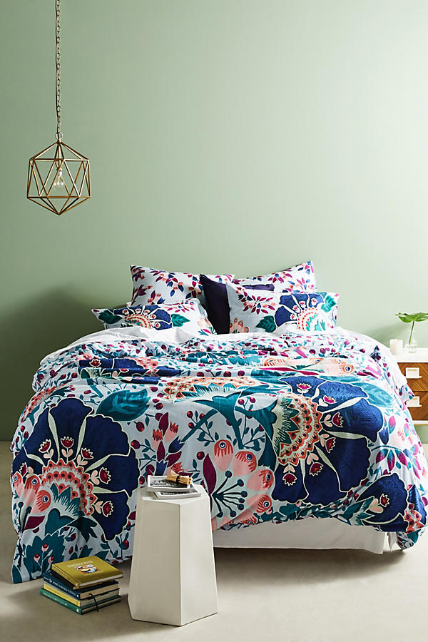 Slide View: 1: Liberty for Anthropologie Embroidered Feather Bloom Duvet