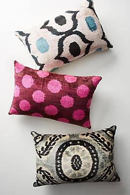 Slide View: 4: Patterned Velvet Pillow