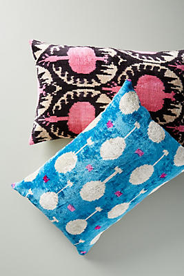 Slide View: 2: Patterned Velvet Pillow