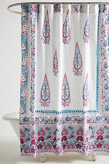shop unique & boho shower curtains | anthropologie