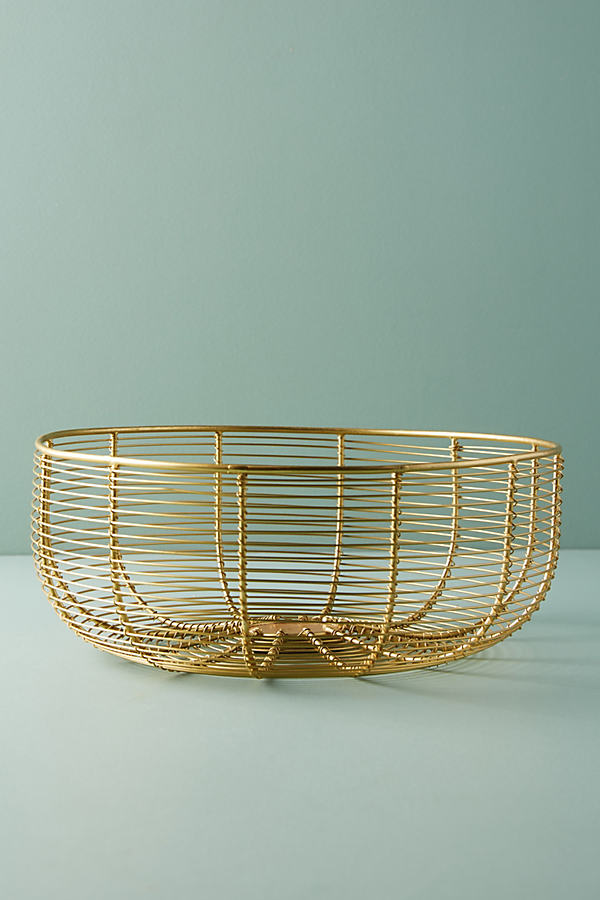 Wired Berry Basket - Gold, Size S