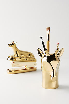 Slide View: 3: Giraffe Pencil Cup