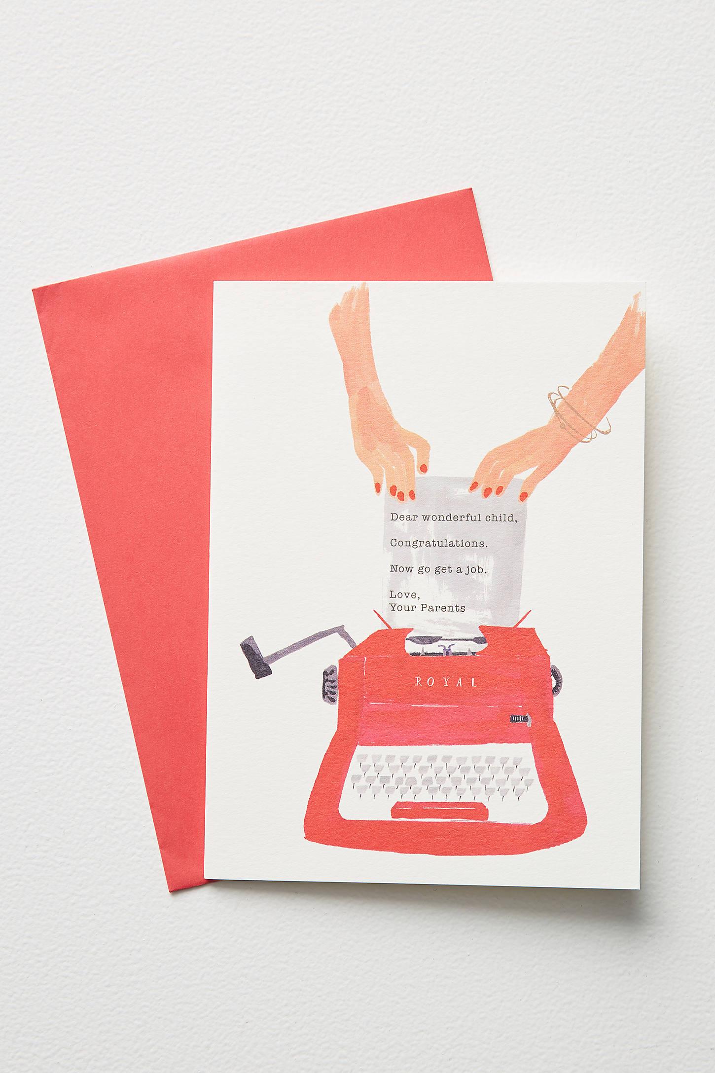 Typewriter Graduation Card
