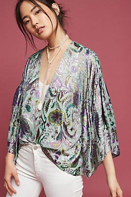 Slide View: 1: Vivian Ruffle Kimono