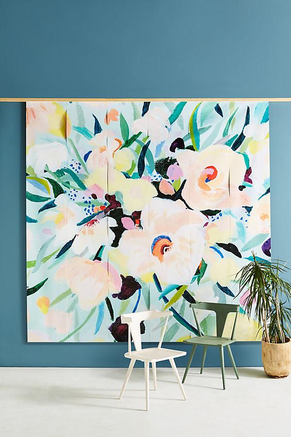 Picturesque Florals Mural - Mint