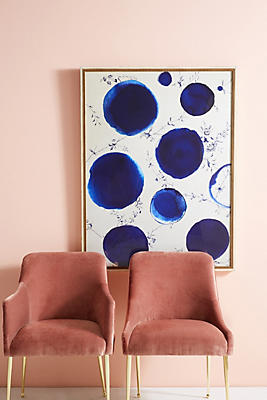 Slide View: 1: Blue Dots Wall Art