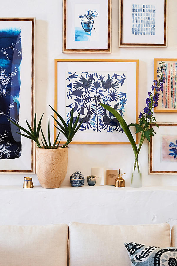 Slide View: 4: Otomi Blue Wall Art