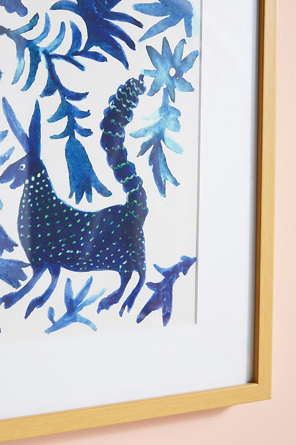 Slide View: 2: Otomi Blue Wall Art