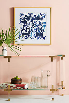 Anthropologie Wall Art otomi blue wall art | anthropologie