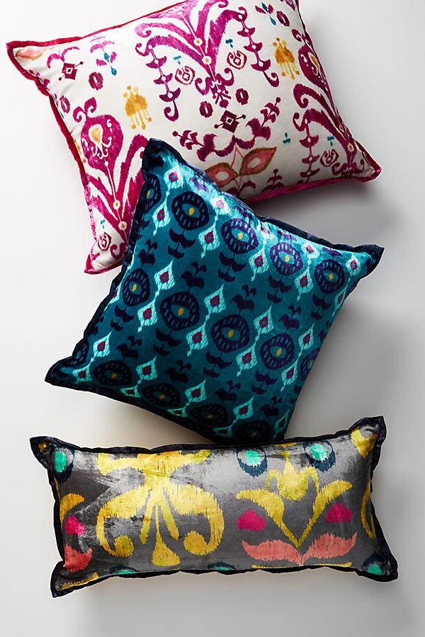 Avery Velvet Pillow - Dark Grey