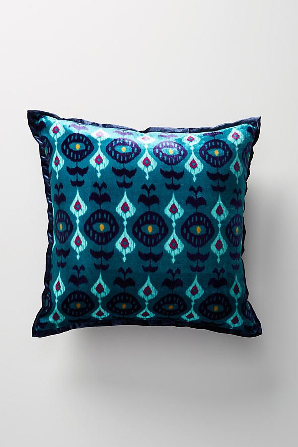 Avery Velvet Pillow - Blue, Size 20