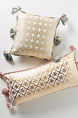 Slide View: 1: Gilded Lattice Pillow
