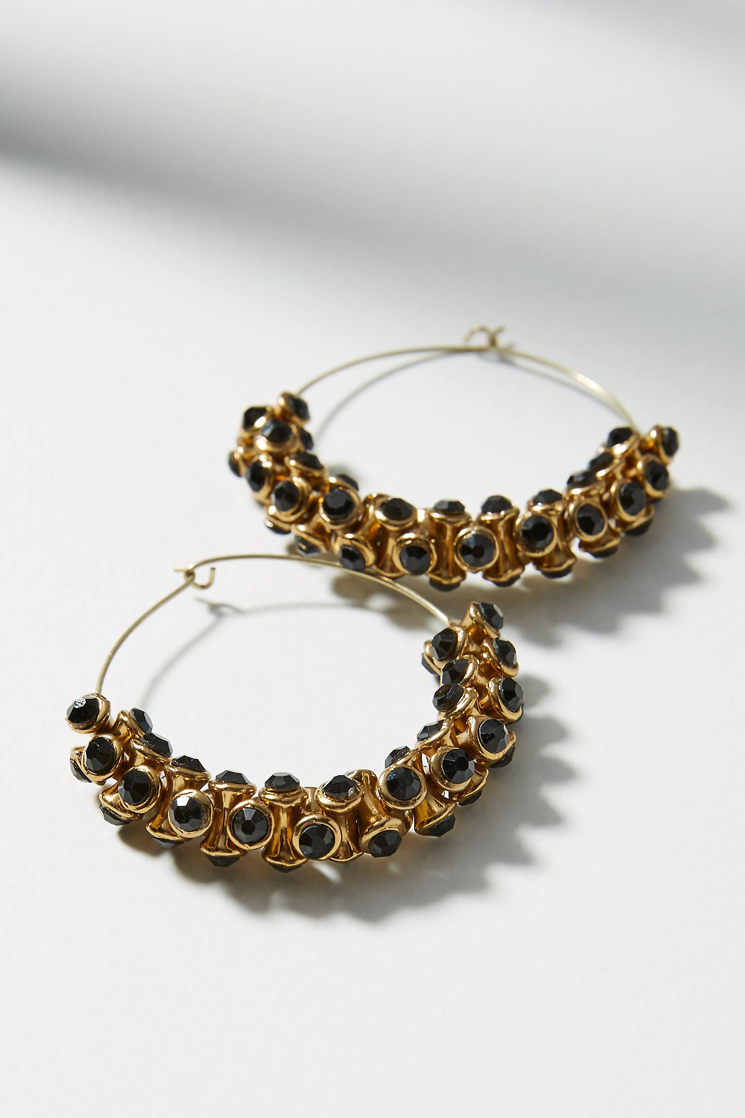 Sparkle Cuff Hoop Earrings