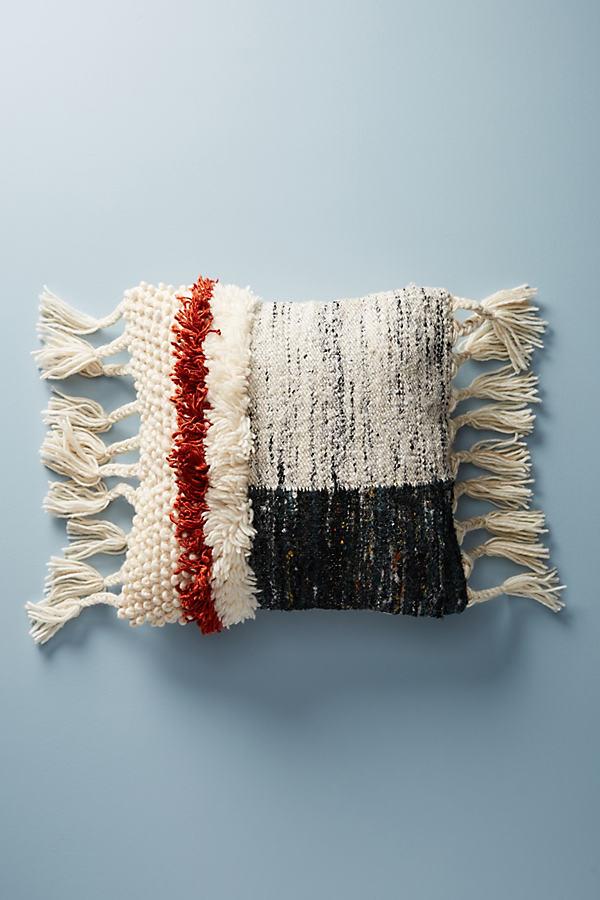 "Tufted Daybreak Pillow - Dark Grey, Size 20"" Square"