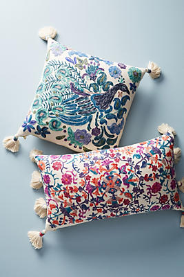 Slide View: 1: Embroidered Melika Pillow