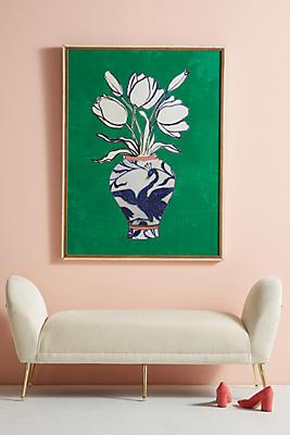 Slide View: 1: Flowers In A Vase Wall Art