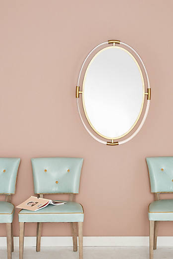 Oval Br Capped Mirror