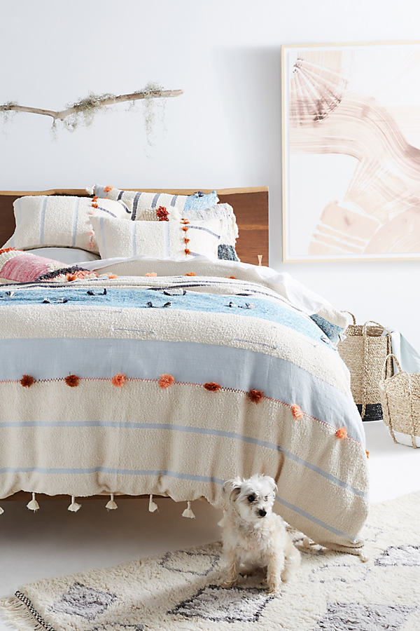 All Roads Woven Solstice Pillowcases - Blue, Size Std Shams