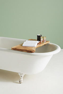 Slide View: 1: Wooden Bath Caddy